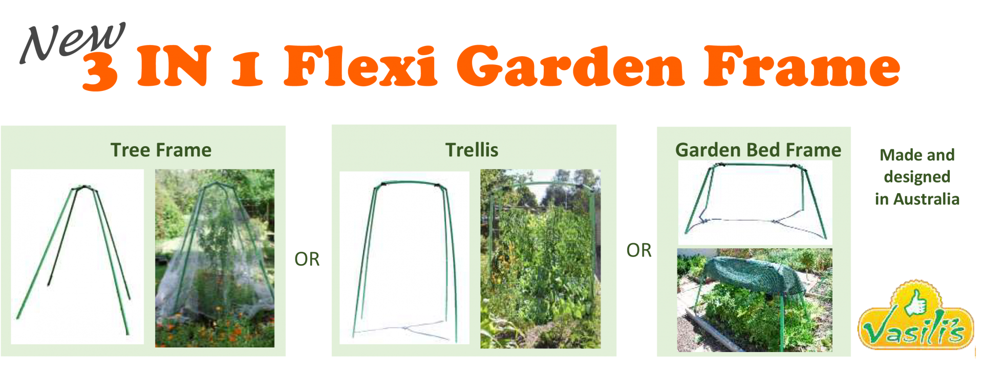 3 in 1 Flexi garden frame