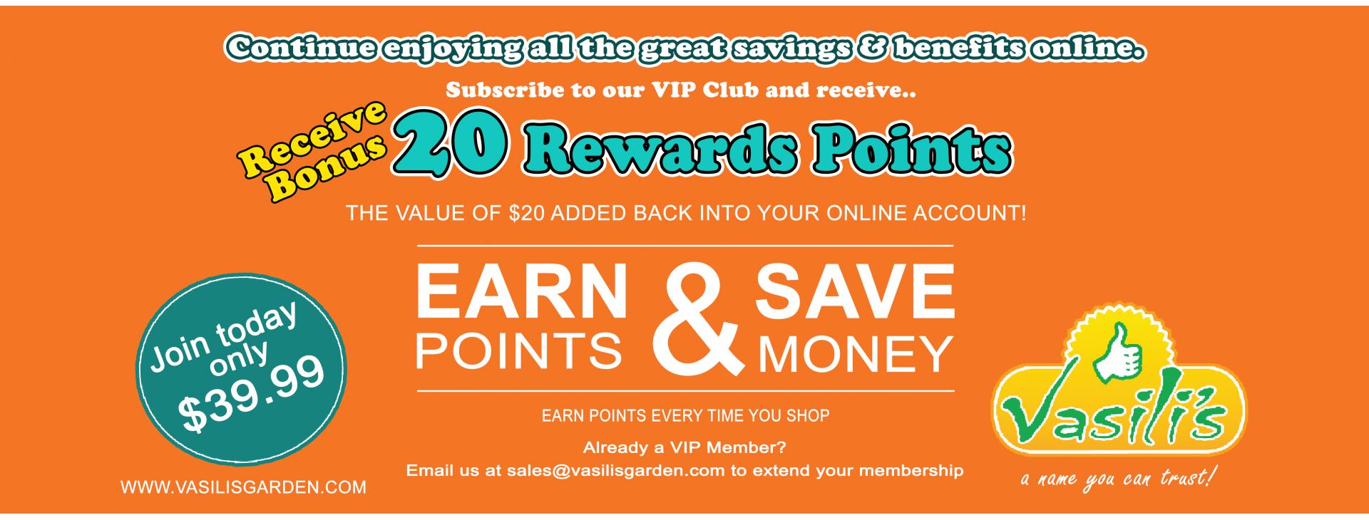 rewards points b&w