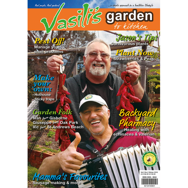Vasili's Garden to Kitchen Magazine - Winter 2016 - Issue 10