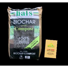 Biochar Compost 20Lt + Rainbow Blend Tomatoes