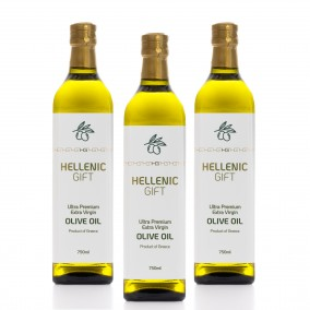 Hellenic Gift 3 Extra Virgin Olive Oil Pack