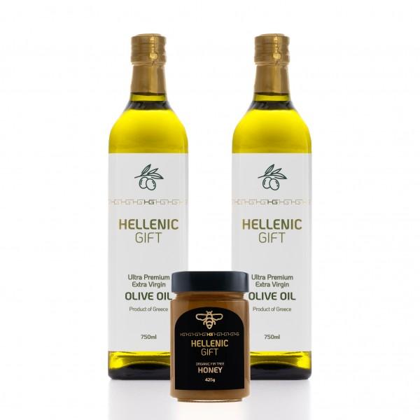 Hellenic Gift 2 Oil & Organic Honey