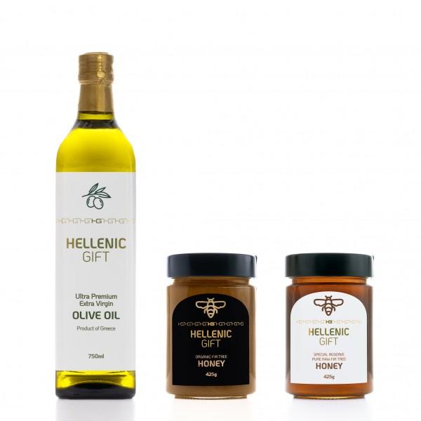 Hellenic Gift Oil & Honey Combo