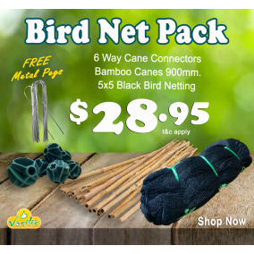Bird Netting Pack Black + Free Galv' U Pegs
