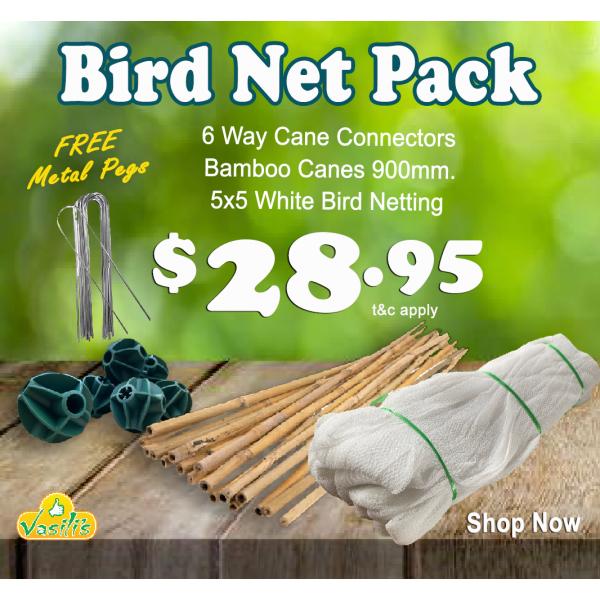Bird Netting Pack White + Free Galv' U Pegs