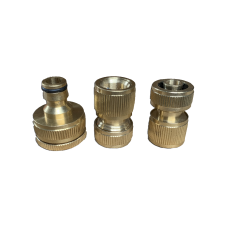 3 Piece Brass Hose Fitting, 13mm