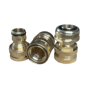 3 Piece Brass Hose Fitting, 19mm