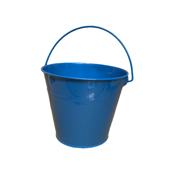 Kids Metal Bucket - Blue