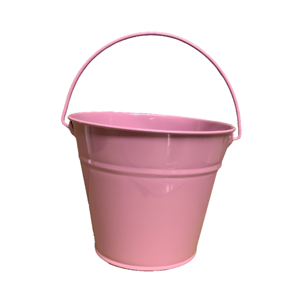 Kids Metal Bucket - Pink