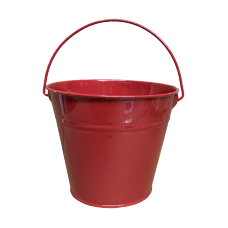 Kids Metal Bucket - Red