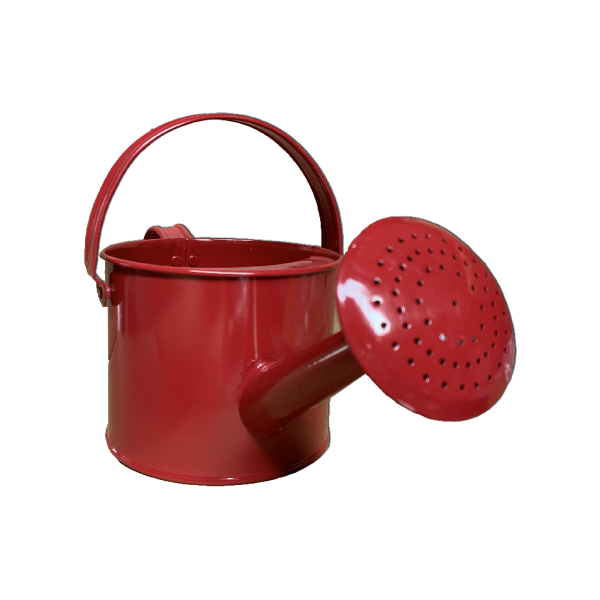 Kids Metal Watering Can- Red
