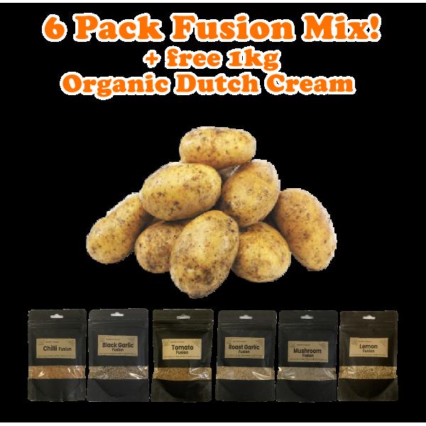 6 Pack Fusion + 1kg Dutch Potato