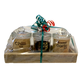 3 Gift Pack Salts - 3 Glass Jars in Tray