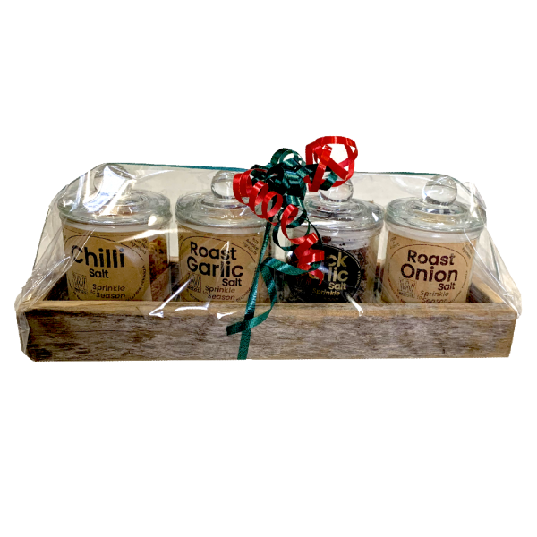 4 Gift Pack Salts - 4 Glass Jars in Tray