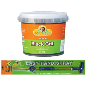 Black Grit 1.5kg + EASY HAND SPRAYER   Order now to be in the draw to win a 3 night Tasmanian getaway holiday.