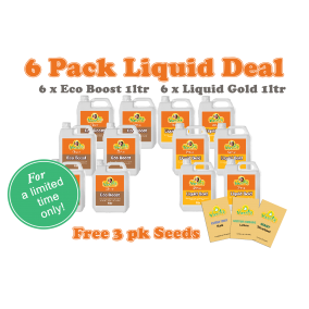 6 Pack Liquid 1ltr w' free 3pk seeds