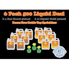 6 Pack Liquid 500ml + Bottle Top Sprinkler