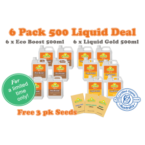 6 Pack Liquid 500ml Bonus 3pk Seeds