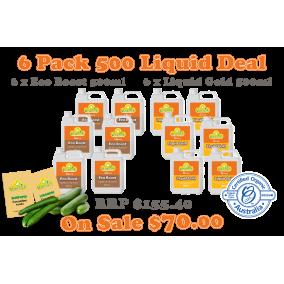6 Pack Liquid 500ml Bonus pkts Burpless & Lebanese cucumber seeds