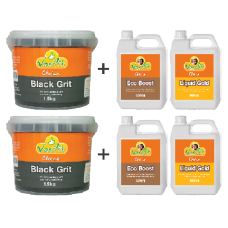 Black Grit 1.5kg Twin Pack + Plus 500ml Liquid Pack