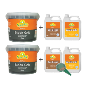 Black Grit 4kg + Bonus Liquid Pack 1ltr Buy 1 Get 1 Free with Mini Seeder