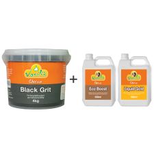 Black Grit 4kg plus Liquid Pack 500ml