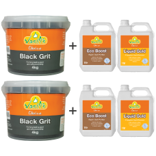 Black Grit 4kg Twin Pack plus 1ltr Liquid Pack