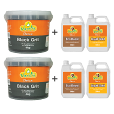 Black Grit 4kg Twin Pack plus Liquid Pack 500ml