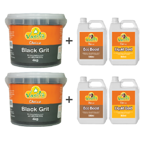 Black Grit 4kg + Bonus Liquid Pack 500ml Buy 1 Get 1 Free