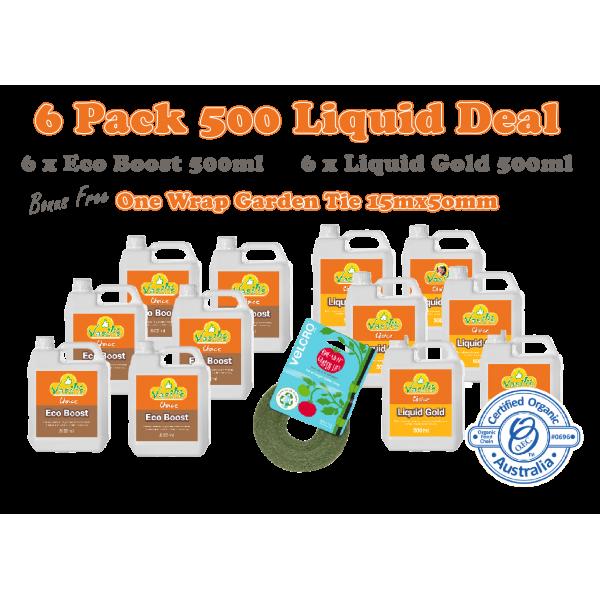 6 Pack Liquid 500ml + Velcro Brand Tie 12mm