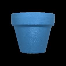 Hand Painted Terracotta Pot 5cm - Blue