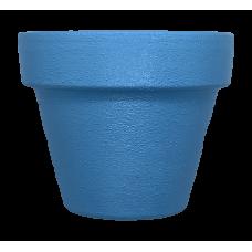 Hand Painted Terracotta Pot 7cm - Blue