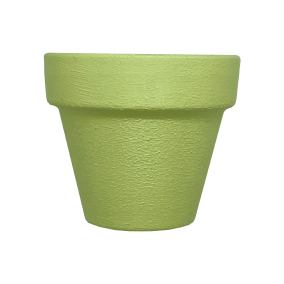 Hand Painted Terracotta Pot 5cm - Yellow