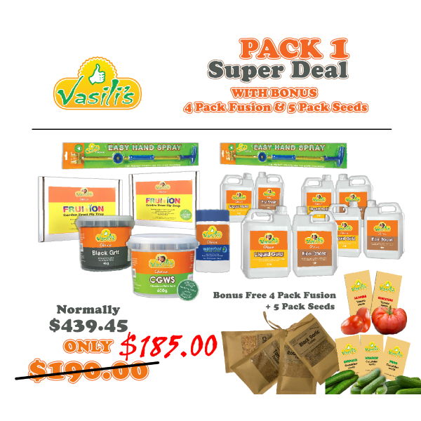Pack 1+ BONUS Fusion Mix + 5 Pack Seeds